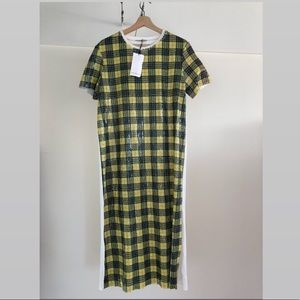 Sequin tartan print dress ❤️